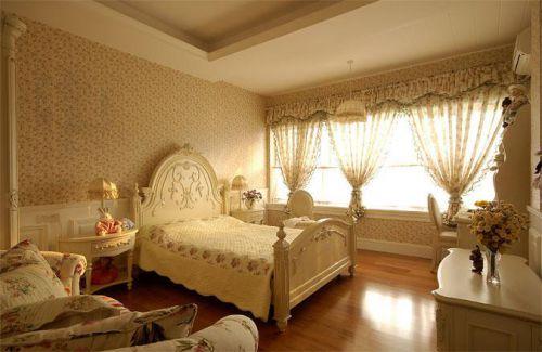 中式美式混搭精致复古卧室设计方案