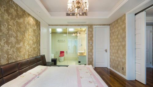 新古典美式混搭精致卧室装修效果展示