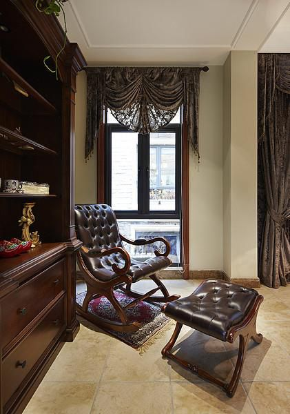 美式混搭复古客厅卧室设计案例展示