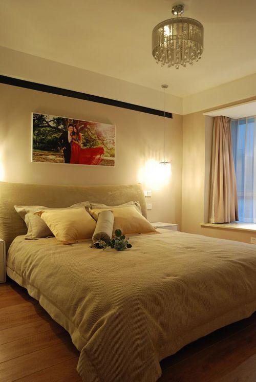 现代简约中式混搭卧室装修图