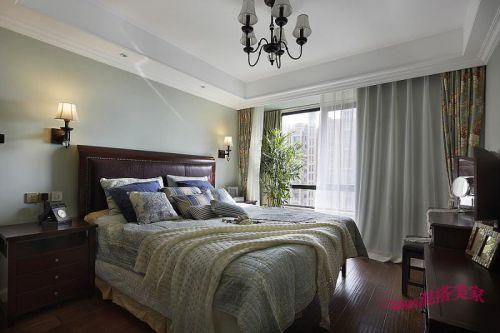 美式混搭复古卧室装修图