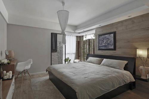 现代简约中式日式卧室设计图