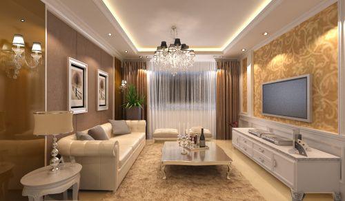 欧式简欧简欧风格客厅卧室吊顶电视背景墙装修效果展示