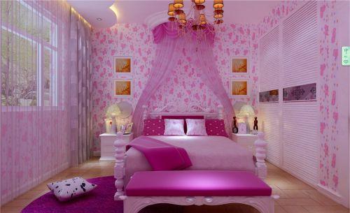 简欧卧室吊顶窗帘装修案例