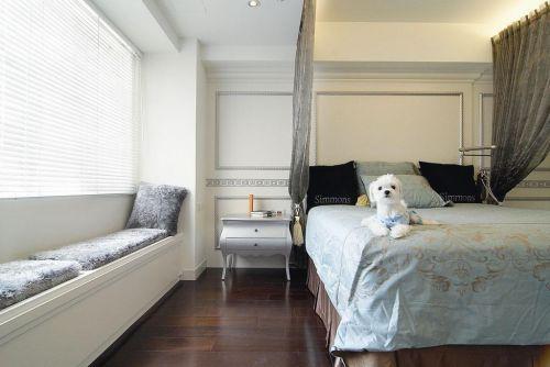 现代简约简欧卧室飘窗&落地窗设计案例