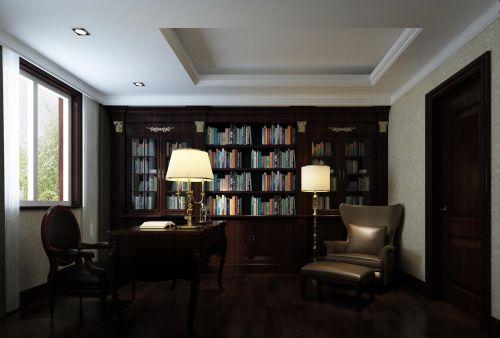 欧式欧式风格书房效果图