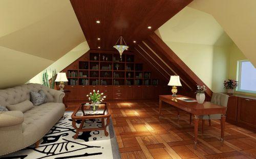 欧式书房阁楼装修效果展示