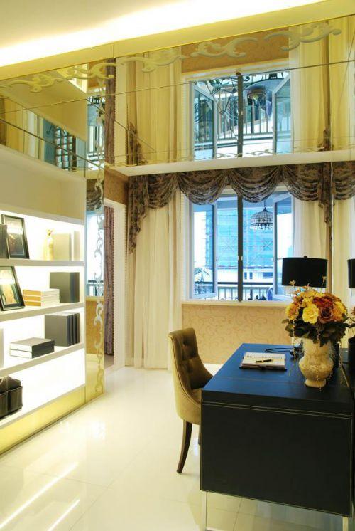 现代简约美式书房设计图