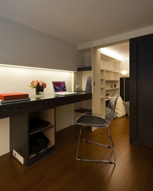 现代简约现代简约简约风格现代简约风格书房装修案例