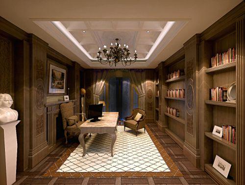 欧式欧式风格书房别墅设计方案
