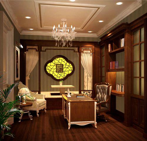 欧式古典书房榻榻米设计方案