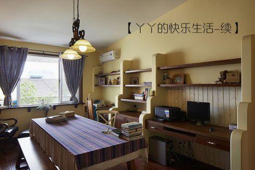 中式田园日式混搭复古书房设计案例展示