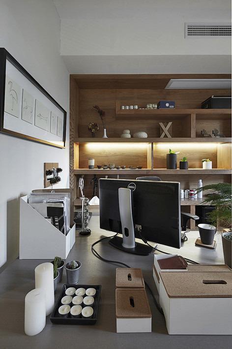 现代简约中式日式书房设计方案