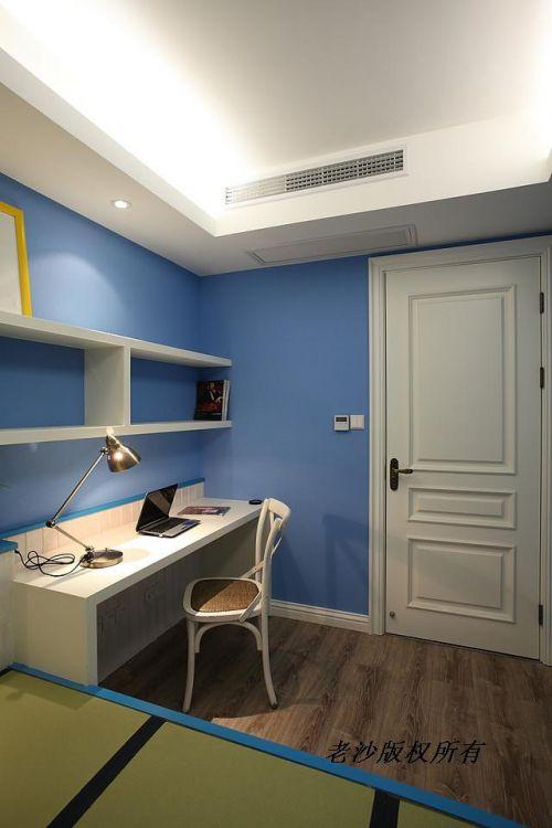 地中海美式书房装修图