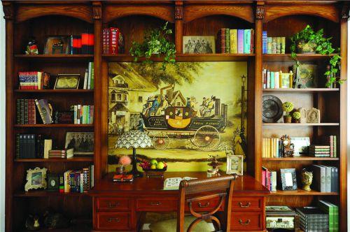 美式书房装修图