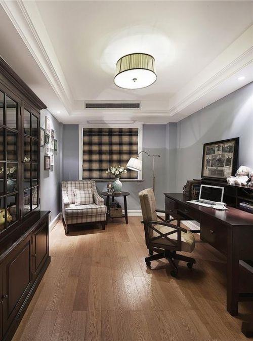 美式书房沙发单人沙发设计图