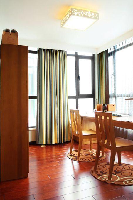美式书房吊顶窗帘装修效果展示