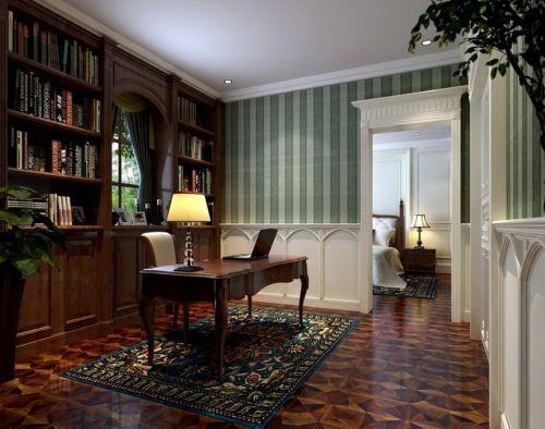 美式美式风格书房案例展示