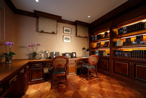 欧式美式书房装修效果展示