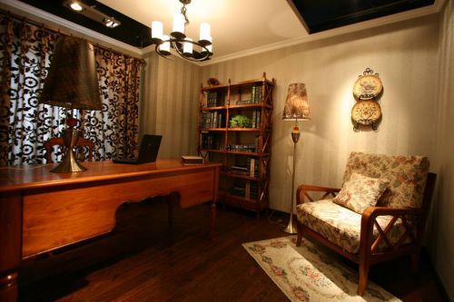 美式书房窗帘设计方案