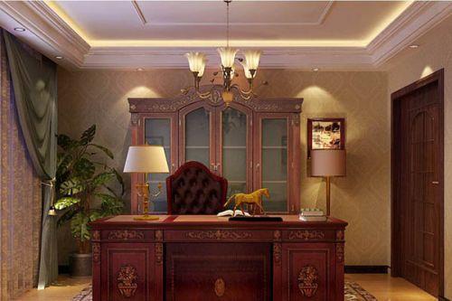 美式古典美式风格书房设计案例