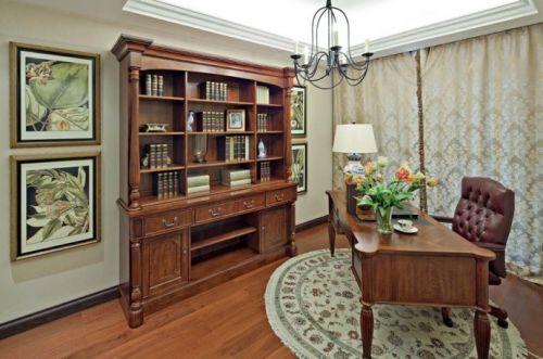 美式美式风格书房效果图