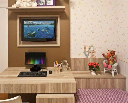 混搭书房电视背景墙装修图