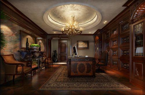美式美式风格书房吊顶设计案例展示