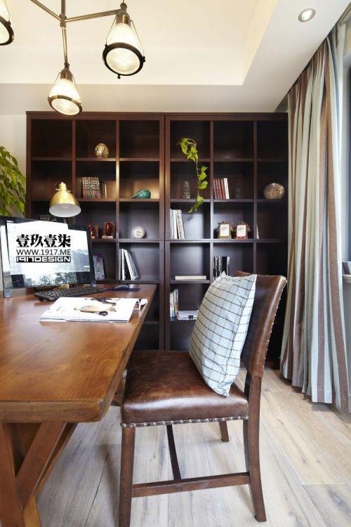 现代简约美式混搭书房装修效果展示