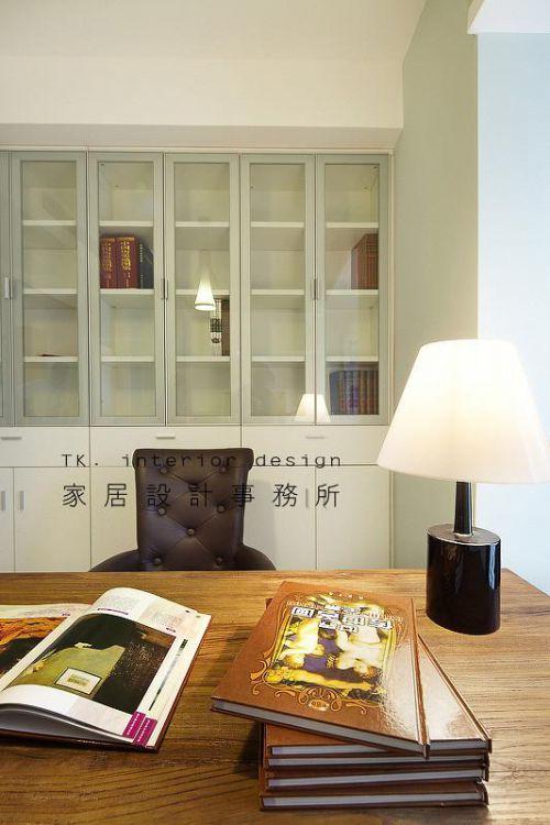 现代简约日式美式混搭书房设计方案