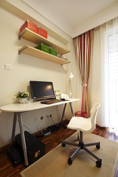 现代简约混搭书房设计方案