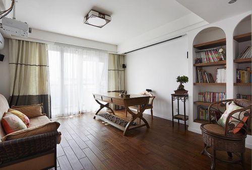 田园美式混搭书房设计案例