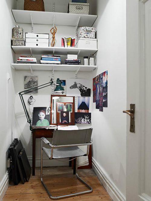 现代简约地中海美式混搭复古书房案例展示