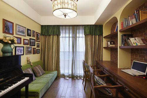 田园地中海美式书房设计方案