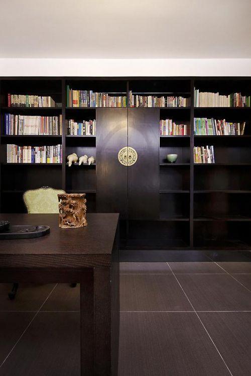 新古典美式精致后现代书房图片