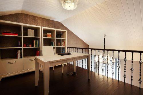 现代简约新古典书房设计案例