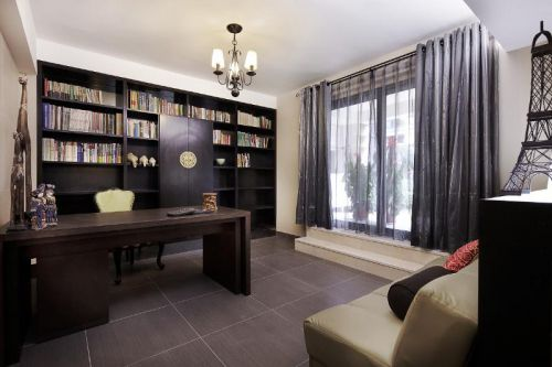 新古典美式精致后现代书房案例展示