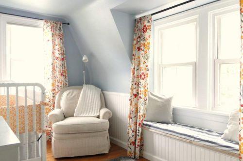 现代简约欧式北欧儿童房飘窗&落地窗设计案例