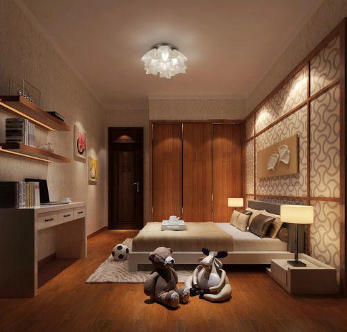 中式简约儿童房装修图