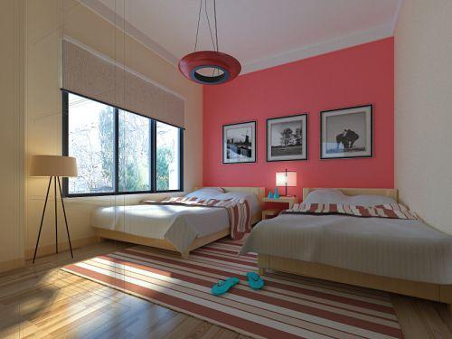中式卧室儿童房吊顶装修效果展示
