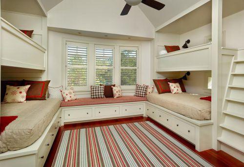 现代简约简欧儿童房飘窗&落地窗设计案例