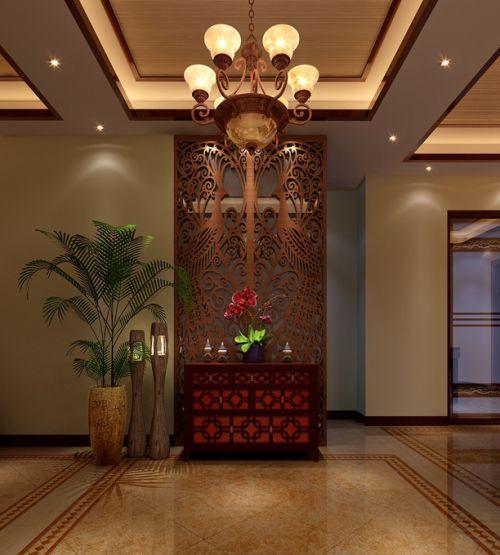 东南亚玄关吊顶玄关柜设计案例展示