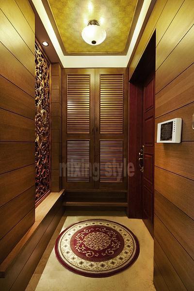东南亚混搭玄关玄关柜装修图