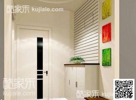 现代简约玄关植物玄关柜设计案例