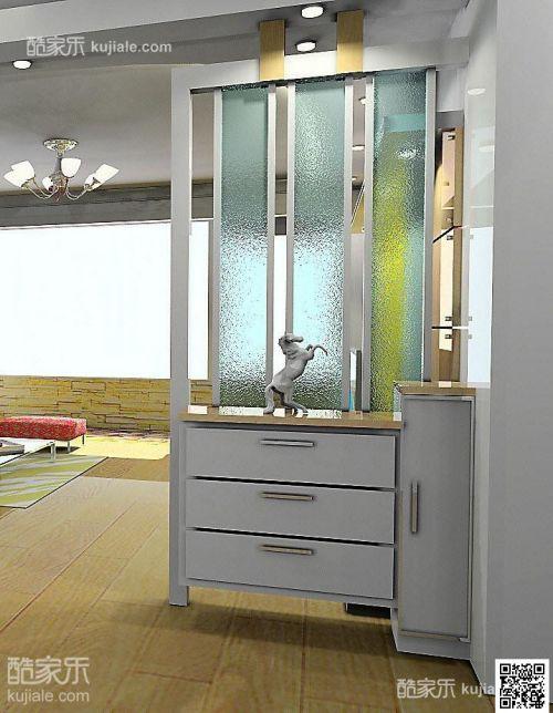 现代简约现代玄关玄关柜装修效果展示