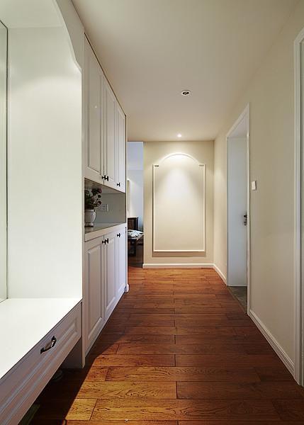 日式美式玄关玄关柜装修图