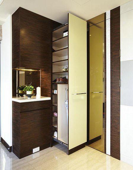 現代簡約日式美式混搭玄關玄關柜設計案例展示