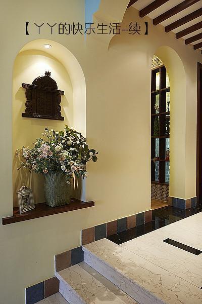 中式田園日式混搭復古玄關玄關柜裝修圖