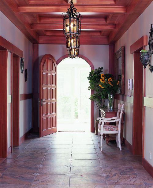 美式玄关玄关柜装修案例