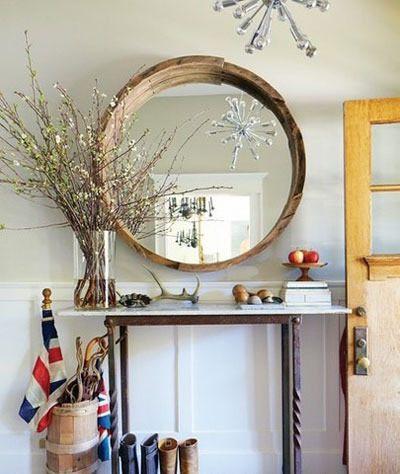 现代简约美式简约玄关桌子玄关柜装修图